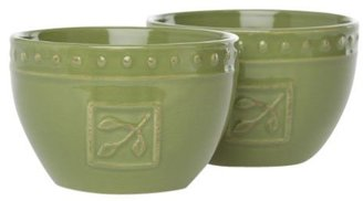 Signature Housewares 5-Inch Stoneware Bowl, 24-Ounce, Oregano, Set of 2