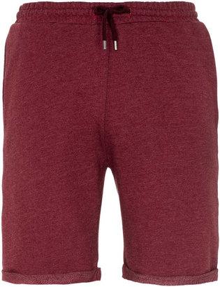 Topman Burgundy Jersey Shorts
