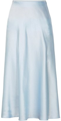 Samsoe & Samsoe Samse Samse Alsop Pale Blue Satin Midi Skirt