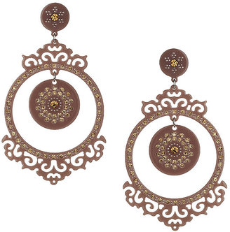 Topshop Brown circular chandelier earrings