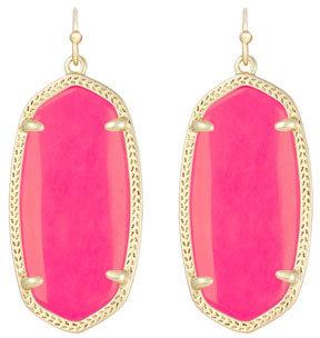 Kendra Scott Elle Earrings, Neon Coral
