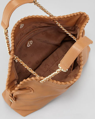 Tory Burch Marion Slouchy Leather Tote Bag, Royal Tan