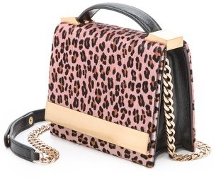 Brian Atwood Ava Haircalf Top Handle Clutch