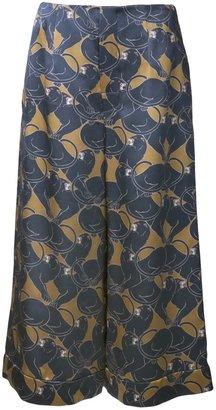 Marc Jacobs cropped jaguar print trouser
