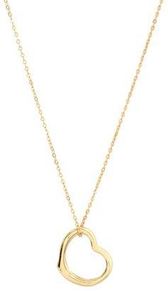 Gold Slanted Pendant Heart Necklace