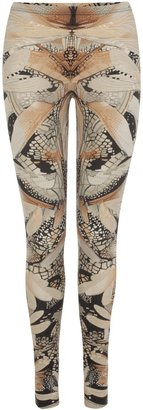 Alexander McQueen Flesh Dragonfly Wing Leggings