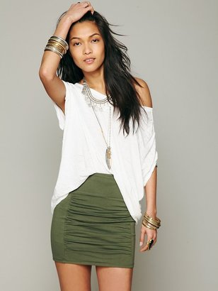 Free People High Waist Scrunch Skirt