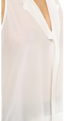 Alice + Olivia AIR by Sleeveless High Low Blouse