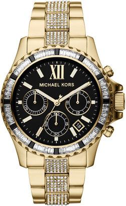 Michael Kors Golden Stainless Steel Everest Chronograph Glitz Watch