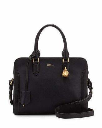 Alexander McQueen Small Padlock Satchel Bag, Black $1,345 thestylecure.com