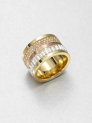 Michael Kors Barrel Ring/Goldtone