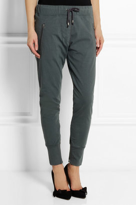 Isabel Marant Tevy cotton-fleece tapered track pants