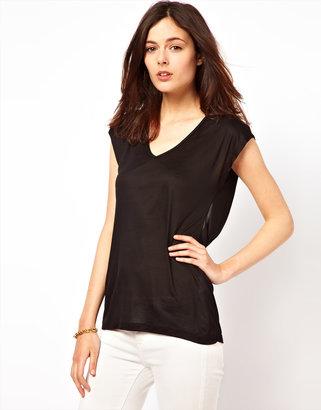 Vila Drape Back T-Shirt