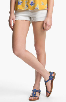 STS Blue Cutoff Denim Shorts (White) (Juniors)