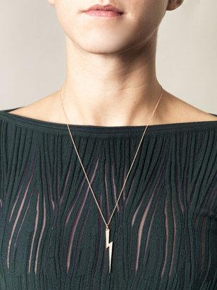 Ileana Makri Diamond & gold Thunderbolt necklace