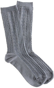 J.Crew Cable trouser socks