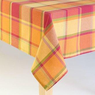 Harvest plaid tablecloth - 60'' x 84'' oblong