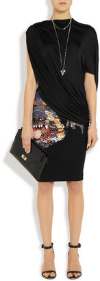 Givenchy Draped stretch-satin jersey top