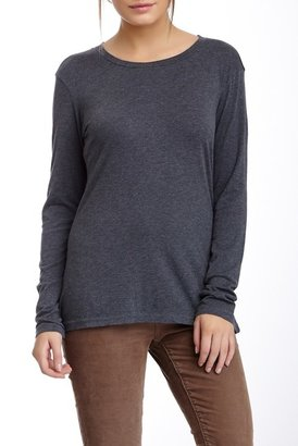 SUSINA Long Sleeve Soft Crew Tee $12.97 thestylecure.com