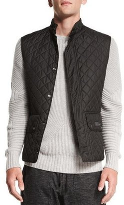 Belstaff Technical Quilted Vest $325 thestylecure.com