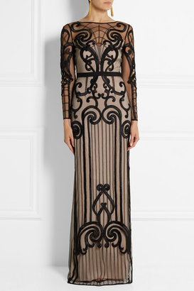 Temperley London Catroux embroidered tulle gown