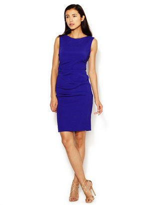 Nicole Miller Crepe Ruched Sheath