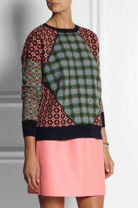 J.Crew Tile jacquard-knit cashmere sweater