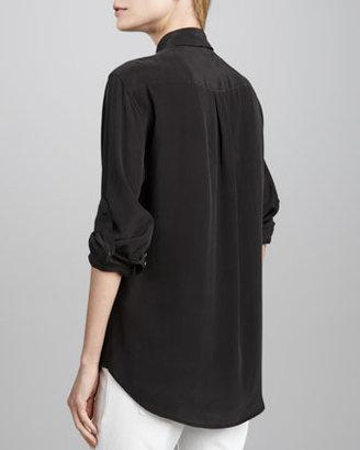 Equipment Signature Silk Blouse, True Black