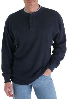 Wrangler Men's Big-Tall Riggs Workwear Thermal Henley