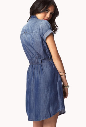 Forever 21 Standout Chambray Shirt Dress