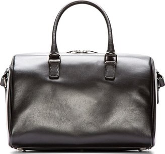 Saint Laurent Black Studded Leather Classic Baby Duffle Bag