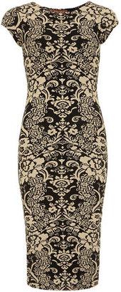 Dorothy Perkins Black/stone floral print dress
