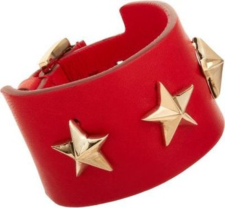 Givenchy Triple Star Small Leather Cuff Bracelet