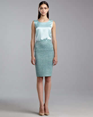 St. John Sparkle-Knit Pencil Skirt