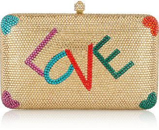 Swarovski Sylvia Toledano Love crystal-embellished box clutch