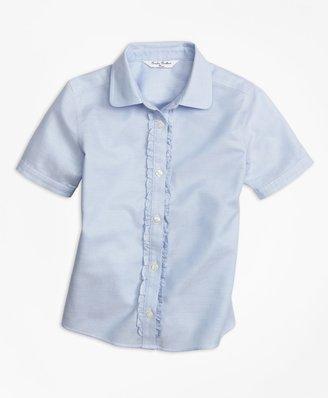 Brooks Brothers Girls Non-Iron Short-Sleeve Oxford
