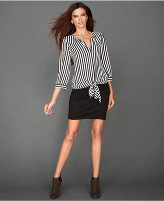INC International Concepts Skirt, Ponte-Knit Mini