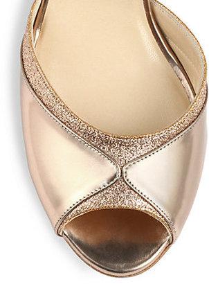 Jimmy Choo Define Mirror Leather d'Orsay Pumps