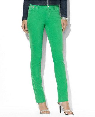 Lauren Ralph Lauren Petite Jeans, Straight-Leg Colored