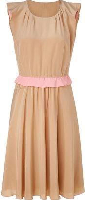 Moschino Cheap & Chic Tan silk dress