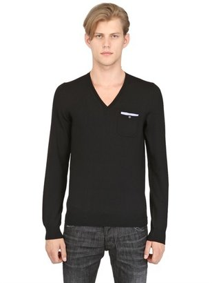 DSquared Extra Fine Wool Knit V Neck Sweater