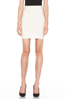 Herve Leger Mid Thigh Skirt in Corozo