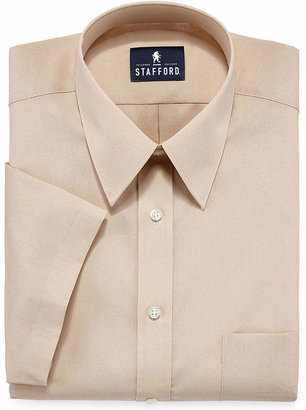 STAFFORD Stafford Travel Short-Sleeve Easy-Care Broadcloth Dress Shirt