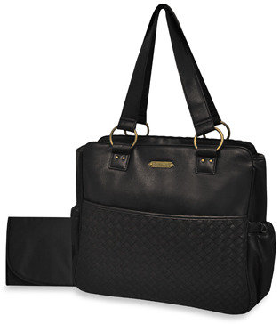 Wendy Bellissimo Weave Diaper Bag - Black