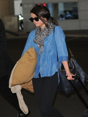 Bella Dahl Shirt Tail Button Down in Worn Well as Seen On Selena Gomez and Chrissy Teigen