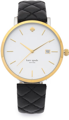 Kate Spade New York Metro Grand Quilted Watch $195 thestylecure.com