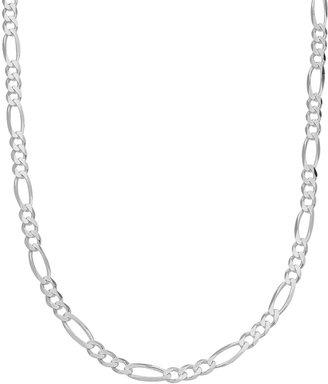 Primrose PRIMROSE Sterling Silver Figaro Chain Necklace
