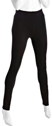 BCBGeneration black stretch ankle zip seamed leggings