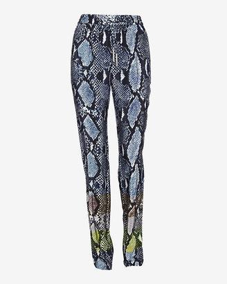Diane von Furstenberg Mixed Python Print Silk Lounge Pant