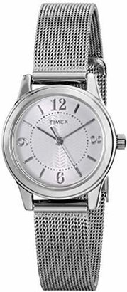 Timex Women's T2P4579J Main Street Modern Minis Silver-Tone Watch $60 thestylecure.com